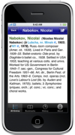 Oxford Concise Dictionary of Music on the iPhone